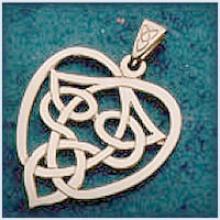 Large Celtic Heart Pendant