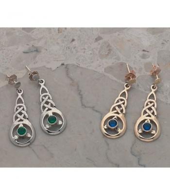 Fancy Knot Stone Earrings