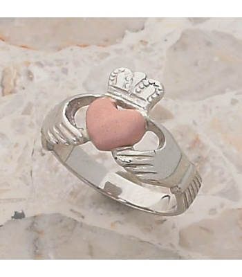 Two Tone Ladies Claddagh Ring