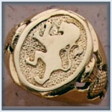 Gents Lion Rampant Ring