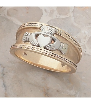 Gents Fancy SB Claddagh Ring