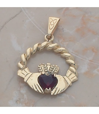 Rope Claddagh Pendant