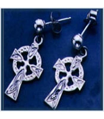 Celtic Cross Drop Earrings