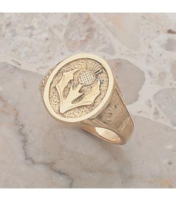 Scottish-Canadian Ring /Thistle-Maple Leaf