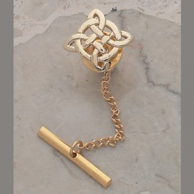 Snowflake Knot Tie Pin
