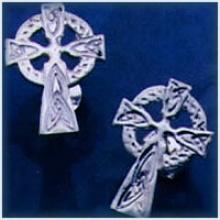 Celtic Cross Studs