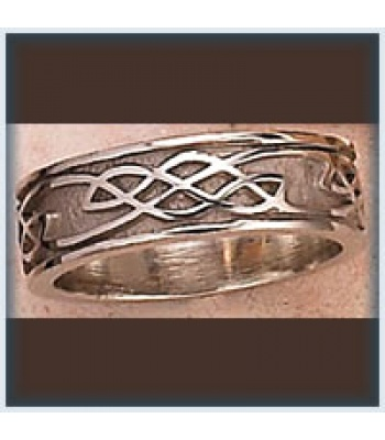 Ladies Narrow Sandblast Knot Band