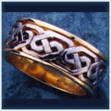 Phil Knot Solid Two Tone Ring