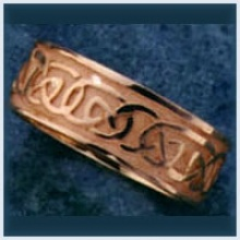 Gents Sandblast Knot Ring