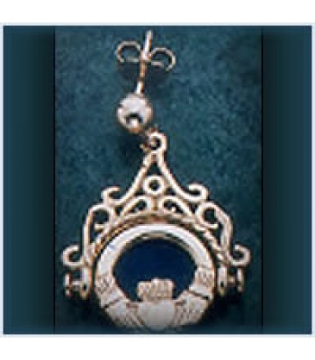 Claddagh Fob Earrings
