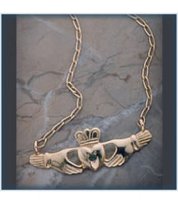 Emerald Claddagh Necklace