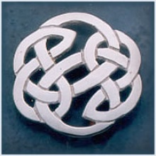Large Heavy Open Knot Brooch