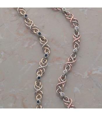 Two Toned Celtic Knot Bracelet