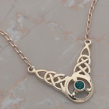 Fancy Knot Necklace with  Stone