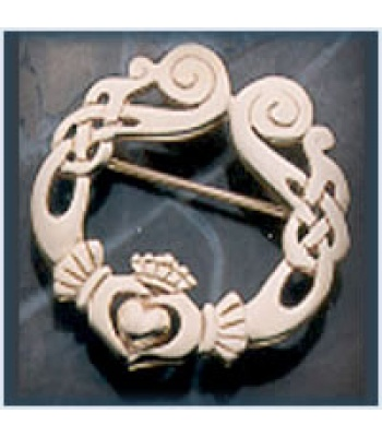 Large Celtic Claddagh Brooch