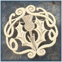 Celtic Thistle Brooch