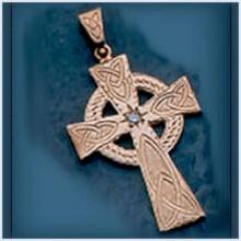 Large Celtic Cross with Diamond
