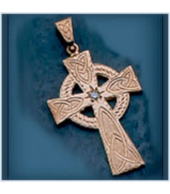 Large Celtic Cross with Diamond