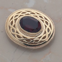 Oval Stone Brooch