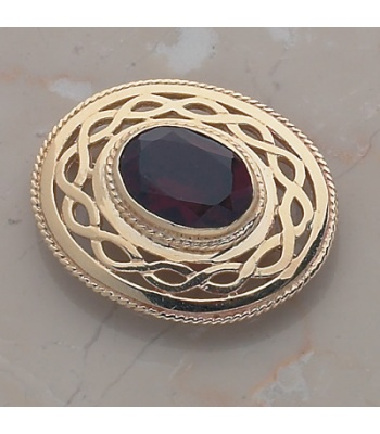 Oval Stone Brooch