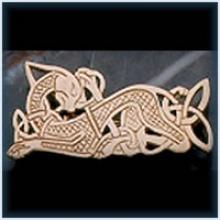 Celtic Dog Brooch