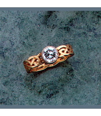Bezel Set Celtic Knot Engagement Ring