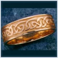 Ladies Sandblast Knot Ring
