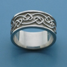 Wide Celtic Heart Knot Ring