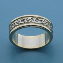 Celtic Heart Knot Band Two Tone