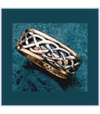 M Knot Two Tone Ring