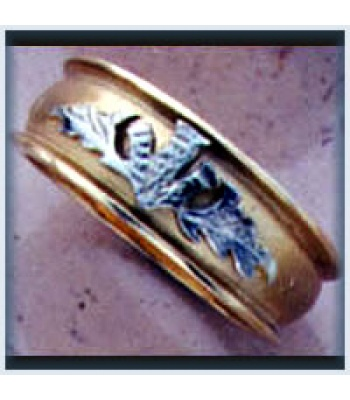 Ladies Sandblast Thistle Ring