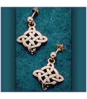 Snowflake Knot Earrings