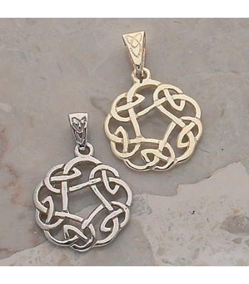 Round Open Knot Charm Pendant