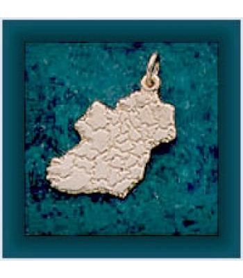 Bordered Map Pendant