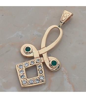 Norah's Diamond Emerald Knot Pendant