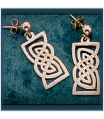 Open Rectangle Knot Earrings