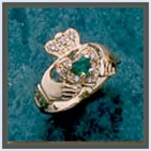 Cluster Claddagh Ring