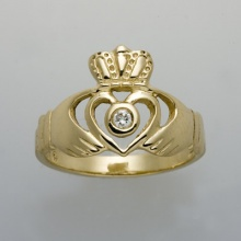 Open Heart with Diamond Ring