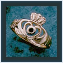 Open Heart Claddagh Ring