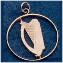 Coin Harp Pendant