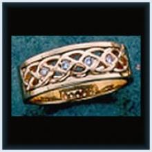 Diamond M Knot Ring