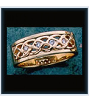 Diamond M Knot Ring