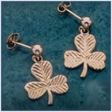 Shamrock Drop Earrings