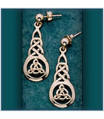 Fancy Knot Drop Earrings