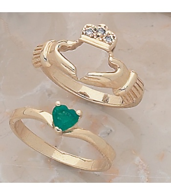 Claddagh Combination Engagement/Wedding Ring