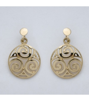 Double Sided Spiral Knot Earrings