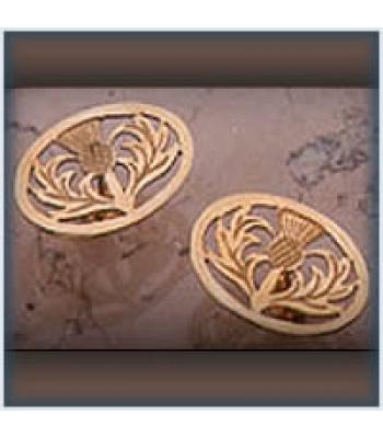 Oval Thistle Stud Earrings